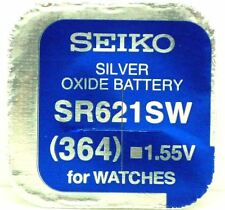 Free Watch Battery Made in Japan Seiko 364 (Sr621Sw) Silver Oxide (0%Hg) Mercury