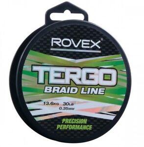 Rovex Tergo Braid Line 250yds Green 10lb