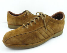 Vtg HUSH PUPPIES Brown Suede Leather Loafers Oxfords Comfort Shoes 9.5 - 10 M