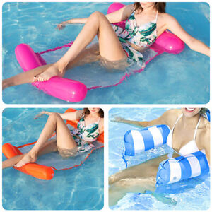 Inflatable Floating Water Hammock Pool Summer Swimming Chair Lounge Bed NEW UK