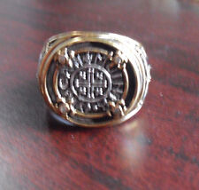 Franklin Mint Sterling Silver Diamond Egyptian Theme Ring SZ 12