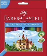 48 Faber Castell Farbstifte Buntstifte Malstifte 48er Etui Eco Zeichenstifte