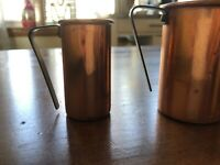 Vintage Set of 4 Copper Measuring Cups ¼ ½ ¾ & 1 Cup Made in Portugal
