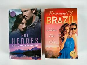 Mills and Boon Hot Heroes & Dreaming of Brazil. 2 books 3 stories in each one.
