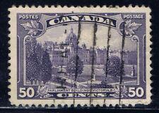 Canada #226(2) 1935 50 cent PARLIAMENT BUILDINGS VICTORIA B.C. Used CV$8.00