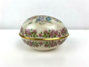 Lenox 1985 Porcelain Easter Egg Trinket Box