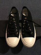 Authentic Converse All Star Ox Shoes Trainers Black White UK 6 NEW