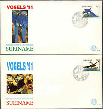 Suriname 1991 Birds FDC First Day Cover Set #C30288