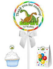 40 DINOSAUR BIRTHDAY PARTY LOLLIPOP STICKERS ~ goody bags, seals, etc