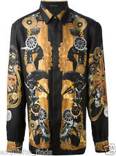 New VERSACE 100% Silk Rich Printed Shirt sz 41