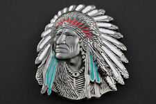 INDIAN Head CHEROKEE Cintura Fibbia Cowboy Western Indiani High Detail