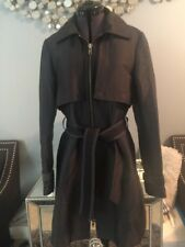Selected FEMME BUTTON ACCENTED TRENCH COAT Black Women's Small 34 Hulinda