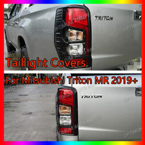 MATTE Black Tail Light Trim Cover suits Mitsubishi Triton MR 2018-2021