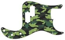 P Bass Precision Pickguard Custom Fender Guitar Pick Guard Camouflage Forest