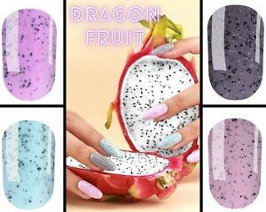 Komilfo Dradon Fruit Gel Polish Black Dots Gel Varnish 8ml Nail Art