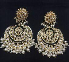 Beautiful Indian Style Pearl Kundan CHANDBALI  Earrings
