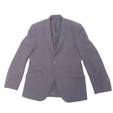 English Laundry Mens One Button Suit Jacket Size 44 R Black Pin Striped Blazer