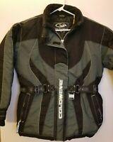 Coldwave Womens MEDIUM Black Grey Snowboard Winter RN84928 LS Jacket Coat