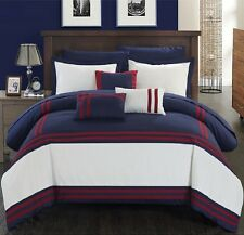 Luxurious Comforter Set Bedding 10-Piece King Size Bed in a Bag Bedspread Sheets