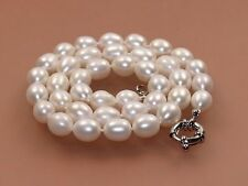 "NEW female gift 8-9mm natural fresh water cultured akoya pearl necklace 18""AAA"