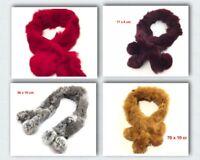 Real Rabbit Fur Scarf Warm Scarf Winter Neck Warmer Wrap Collar Neck Shawl D3