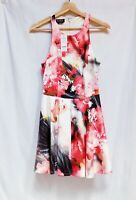 Bebe Women's Dress Sleeveless Fit Flare Party Dress Multi Color Sz S/P NWT