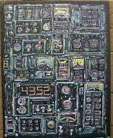 THE SECRET CONTROL PANEL new 16x20 switches original oil Painting Signed Crowell