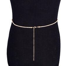 Women Chunky Gold Tassel Belt Waist Long Adjustable Belly Body Waist Long Chain