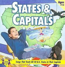 States & Capitals Twin Sisters Productions Music CD SEALED