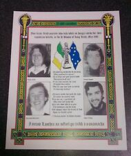 Irish Republican 1981 Long kesh Bobby Sands Hunger strikers memorial Sinn Fein