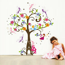 Fairy Tree with Angels Girls Room Wall Stickers Removable Art Decoration
