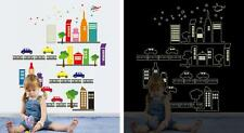 City scenery Glow Night Home Room Decor Removable Wall Stickers Decal Decoration