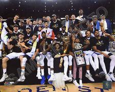 2015 & 2017 Golden State Warriors NBA Champions Celebrate on Floor 8x10 Photos