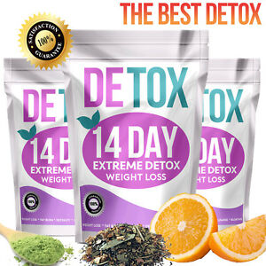 EXTREME WEIGHT LOSS DETOX, 14 DAY DETOX FAT BURNING SLIMMING DIET TEATOX