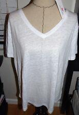 VINEYARD VINES Women's Every Day Linen Tee  WHITE CAP  Sz XL  NWT $68