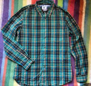 PAUL SMITH Check Shirt. Green. Medium