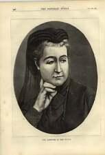 1879 l'ex-impératrice des Français Eugénie Marie gravé PORTRAIT