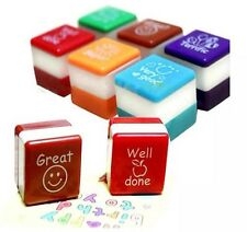 Set of 6 Teachers Stampers Self Inking Reward Stamps Parents Stickers Motivation