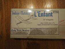 Vintage Easy Built Balsa Wood Model Plane Kit L'Enfant FF84 NIB