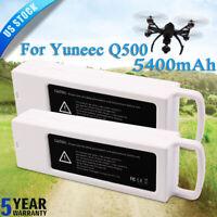 2x FOR Yuneec 4k typhoon Q500 Flight LiPo Battery 11.1V 5400mAH Drone Quadcopter