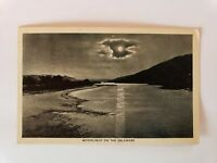 1949 Moonlight on the Delaware River Postcard
