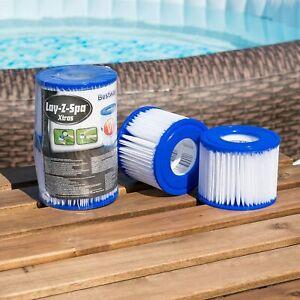 2x Lazy Lay Z Spa Filters Cartridge Miami Vegas Monaco Palm Springs Size VI UK