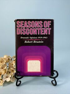 Robert Brustein SEASONS OF DISCONTENT Dramatic Opinions 1959-1965 1st Edition 1s