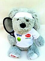 Plush Think Sofas Grey Dog Puppy Tennis Promotional Soft Stuffed Animal Toy 19CM