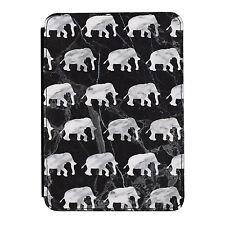 Gris Mármol Elefantes Animales Kindle Paperwhite Toque PU Funda Libro de Piel