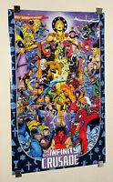 1993 Marvel Infinity Crusade poster:Avengers/Spiderman/XMen/Thor/Thanos/Hulk/War