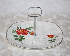 "PRETTY VINTAGE 1950'S MIDWINTER STYLECRAFT ""ROSE MARIE"" CAKE STAND"