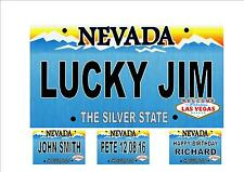 Las Vegas Number Plate, Personalsed Fun Novelty  American Nevada Licence Plate
