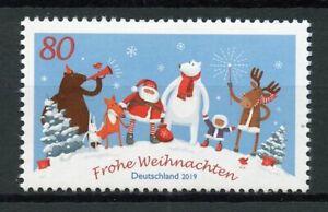 Germany Christmas Stamps 2019 MNH Santa Trees Bears Foxes Reindeer 1v Set