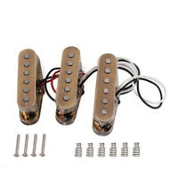 3Pcs Vintage Staggered AlNiCo V Pickups for Fender ST Strat Bridge Neck Middle
